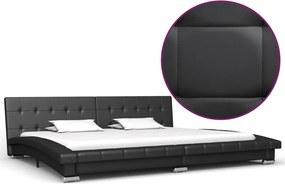 Bedframe kunstleer zwart 200x180 cm