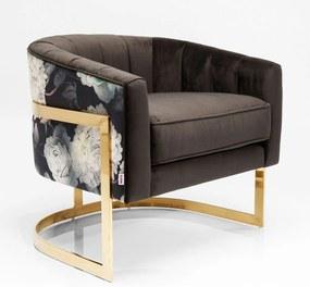 Kare Design Bold Club Design Fauteuil Goud Frame