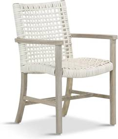 Kirana Dining Chair (without cushion) ivory wash wicker