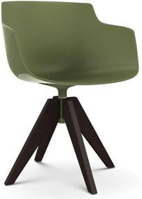 MDF Italia Flow Slim Color VN Oak stoel bruin groen