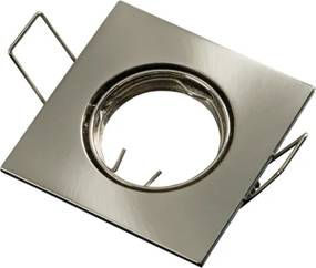Inbouwspot, MR11 (35 mm), Vierkant, Geborsteld Aluminium, Satijn
