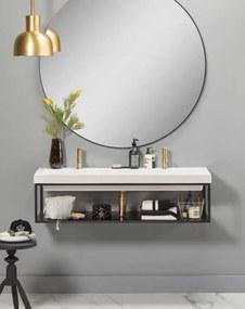 Sottile badmeubel 120x40 wit met frame
