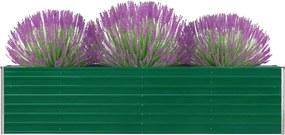 Plantenbak verhoogd 320x40x77 cm gegalvaniseerd staal groen