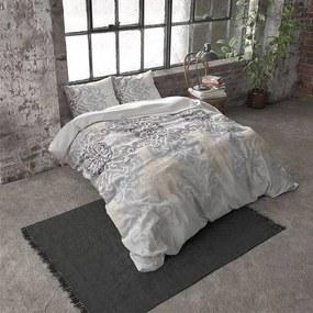 DreamHouse Bedding Rake - Verwarmend Flanel - Grijs 2-persoons (200 x 200/220 cm + 2 kussenslopen) Dekbedovertrek