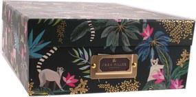 A4 opbergbox met tropische print