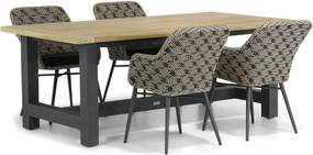 Lifestyle Crossway/San Francisco 200 cm dining tuinset 5-delig