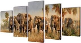 Canvasdoeken Olifanten 200 x 100 cm