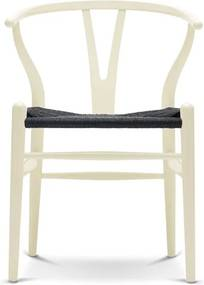 Carl Hansen & Son CH24 Wishbone stoel Colours Black Vanilla White