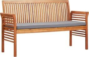 Tuinbank met kussen 3-zits 150 cm massief acaciahout