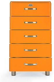 Tenzo Malibu Halfhoge Ladekast Oranje - 60x41x111cm.
