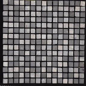 Mozaiek grijs gemixed Marmer 1,5x1,5x1 anticato