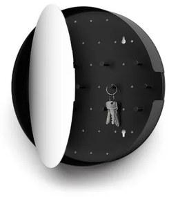 Zack Nolma spiegel met sleutelkastje 35,3x35x7cm zwart 50604
