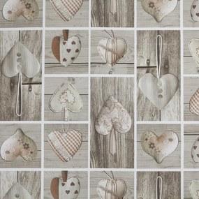 Kerst Tafelzeil Wooden Heart