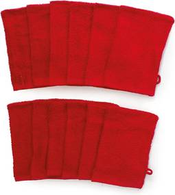 The One Towelling 12-PACK: Washandjes - 16 x 21 cm - Rood