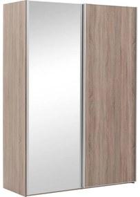 Goossens Kledingkast Verto, 150 cm breed, 217 cm hoog, 1x schuifdeur rechts en 1x spiegelschuifdeur links