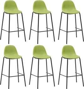 Barstoelen 6 st stof groen