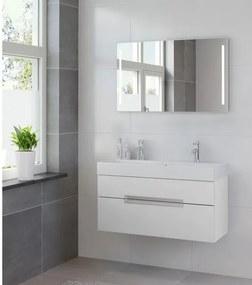 Bruynzeel Mino badmeubelset 100x56x38cm met spiegel mat wit 220721K