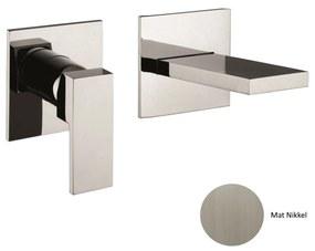 Inbouw Wastafelmengkraan Sanimex Giulini Eenhendel 20cm Inclusief Inbouwdelen Mat Nikkel
