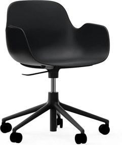 Normann Copenhagen Form Armchair Bureaustoel Met Zwart Onderstel Zwart