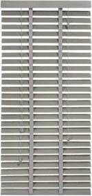 Horizontale jaloezie hout 50 mm - taupe - 60x130 cm - Leen Bakker
