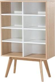 Kast bruin-wit - boekenkast - melkkast - staande kast - WRANGELL