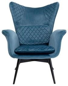 Kare Design Tudor Fluwelen Oor-fauteuil Blauwgroen