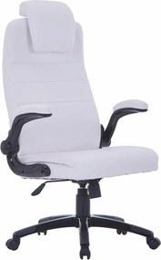 Kunstleren bureaustoel (wit / verstelbaar)