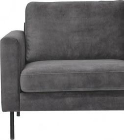 Dimehouse   Hoekbank Gaya rechts zithoogte 45 cmzitdiepte 55 cmhoogte 84 cmdikte antraciet zitbanken microvezel stof meubels   NADUVI outlet