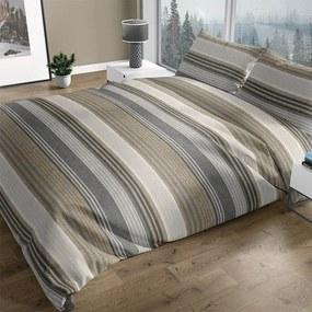 Romanette Merano - Verwarmend Flanel - Beige Lits-jumeaux (240 x 200/220 cm + 2 kussenslopen) Dekbedovertrek