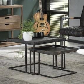 Salontafel Metallic Vierkant Set Van 2  58 cm - Metaal - Giga Meubel - Industrieel & robuust