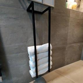 Handdoekenrek BWS Industrieel 95x25x20 cm Zwart
