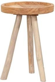 Bijzettafel Damon - naturel - 50x35 cm - Leen Bakker