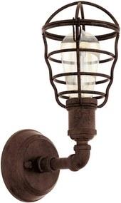 EGLO wandlamp Port Seton - oud bruin - Leen Bakker