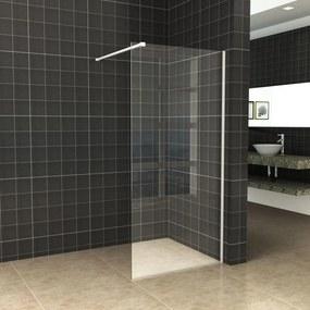 BWS Inloopdouche Pro Line Helder Glas 105x200 Mat Wit Profiel en Stabilisatiestang