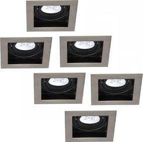 Set van 6 stuks Dimbare LED inbouwspot Modesto 5 Watt Philips 2700K warm wit Kantelbaar