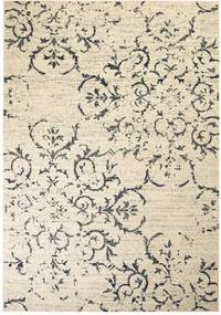 Vloerkleed modern bloem ontwerp 80x150 cm beige/blauw