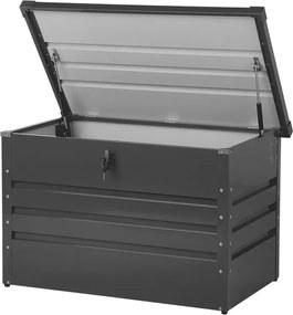 Kussenbox staal grafietgrijs 100x62 cm CEBROSA