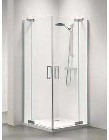 Sealskin Get Wet Custom douchedeur hoekinstap 100x195cm zilverhoogglans helder glas CP50100D260100