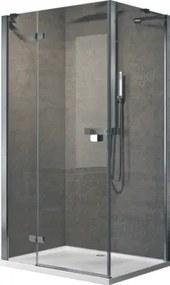 Brera F zijwand voor bad en douche (bxh) 1000x2000mm inbouwbreedte wand voor montage met 970 - 990mm type wand vast