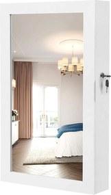 Nancy's Spiegel Sieradenkast - Passpiegel - Sieraden Opberger - Spiegelkast - Wandspiegel - 37 x 67 x 10,5 cm