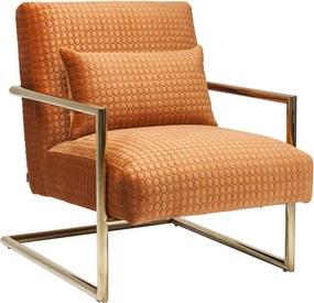 Kare Design Living Vegas Oranje Fauteuil Met Motief