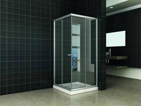 Douchecabine Hoekinstap 80x80x190 cm Helder Glas Aluminium
