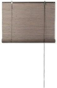 Rolgordijn bamboe - donkerbruin - 120x180 cm