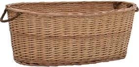 Houtmand met handvatten 88x57x34 cm natuurlijk wilgenhout