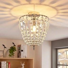 Glinsterende glazen plafondlamp Lionello - lampen-24