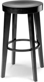 Fico kruk - Hout - 65 cm hoog - Zwart gebeitst