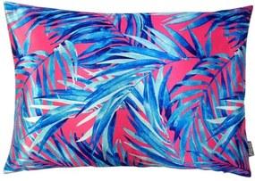 Kussen roze, blauw bladeren Kek, langwerpig
