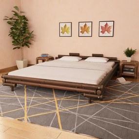 Bedframe bamboe donkerbruin 180x200 cm