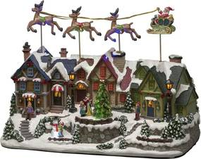 Konstsmide Kerst decoratiehuis met ledverlichting 40 cm