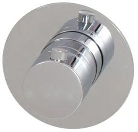 Brauer Inbouwthermostaat ronde knop met ronde rozet Chrome Edition 1601